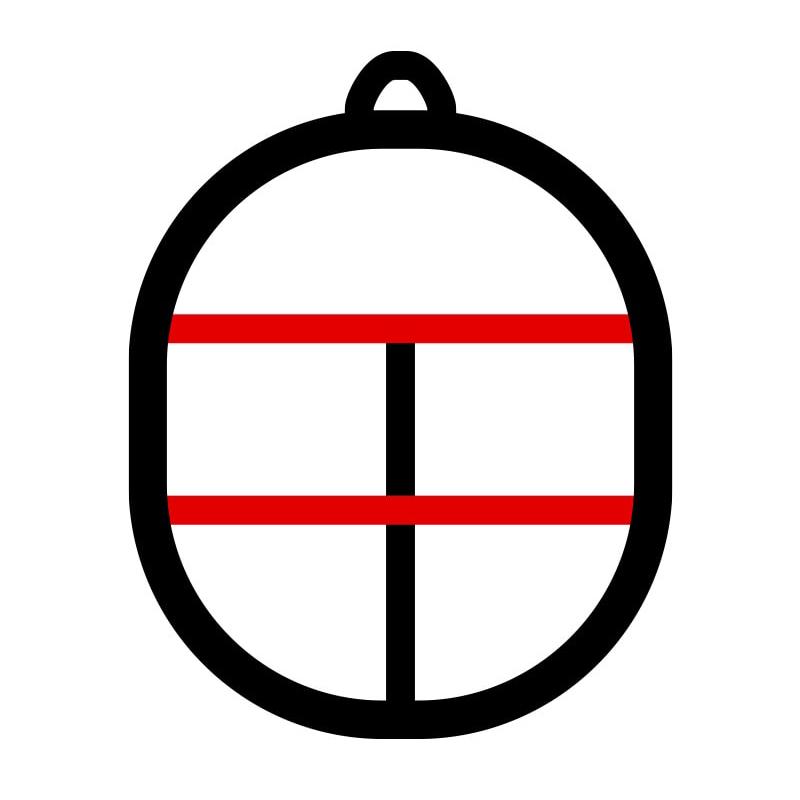 セパレータ形状 (赤線:フルセパレータ 黒線: 口枠のみ)