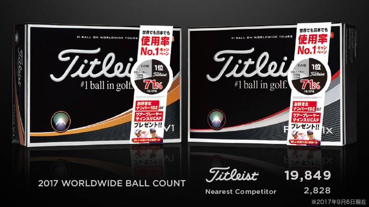 NEW タイトリスト プロV1・プロV1x 「世界でも日本でも使用率No.1キャンペーン」を実施